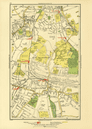 BECKENHAM. Bellingham Lower Sydenham Southend Clock House 1933 old vintage map